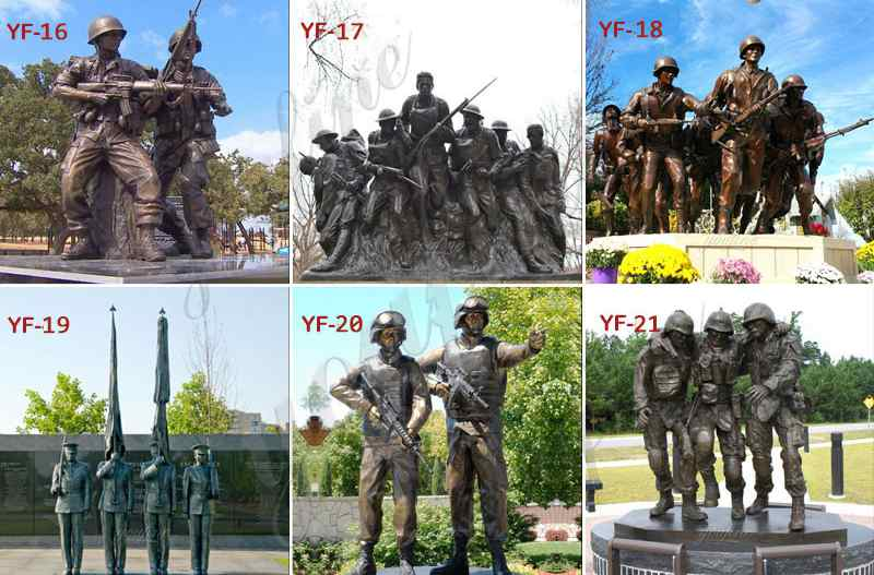 High Quality Custom Made Bronze Military Statue Sculpture