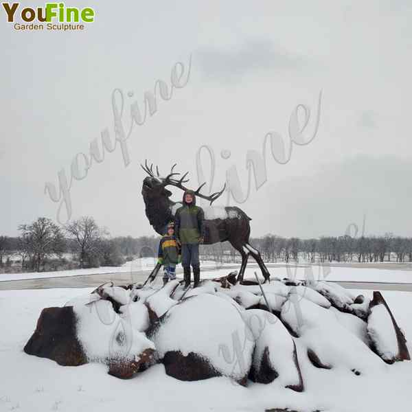 Large Size Bronze Reindeer Statue Animal Sculpture for Our Customer