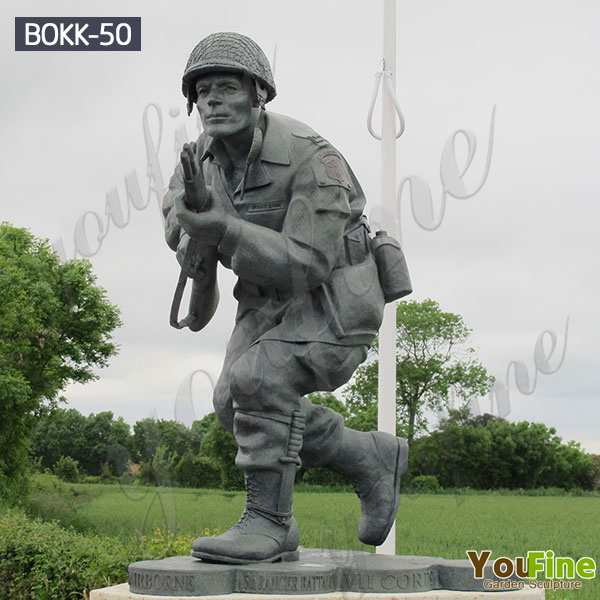 Life Size Bronze Army Soldier Garden Statue for Outdoor BOKK-50