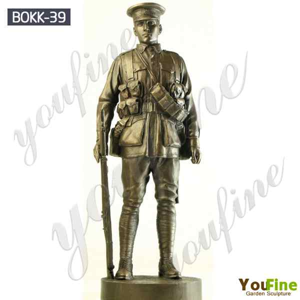 Life Size Bronze Army Soldier Garden Statue for Outdoor Decor BOKK-39
