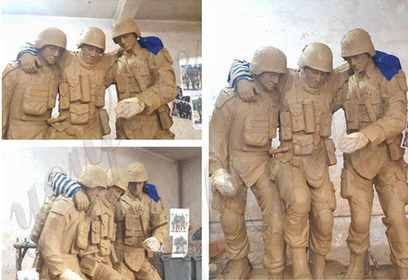 Life Size Bronze Army Soldier Garden Statue