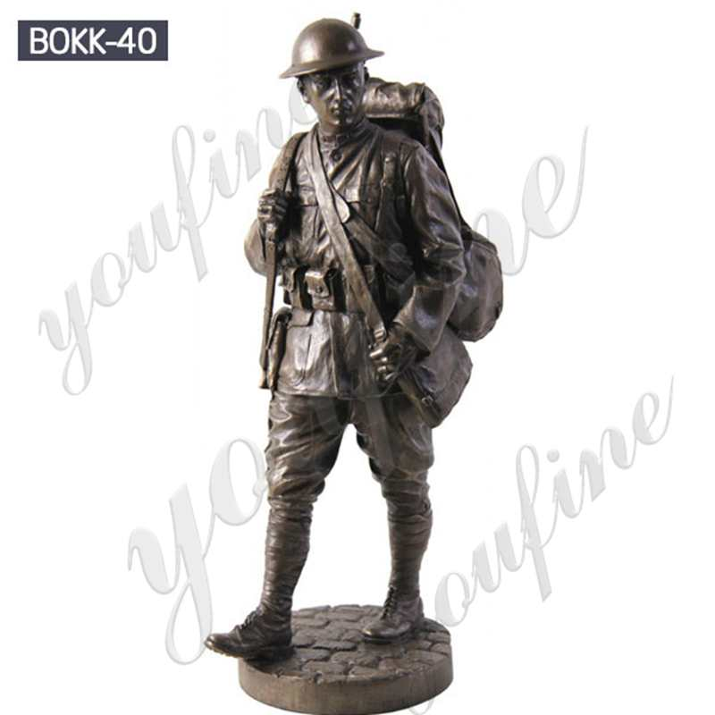 Life Size Bronze Military Monument Statue Sculpture for Sale