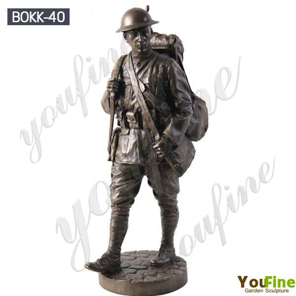 Life Size Bronze Military Monument Statue Sculpture for Sale BOKK-40