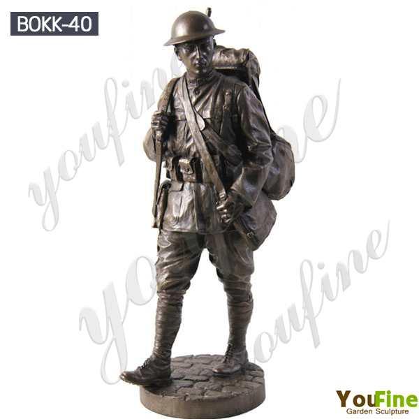 Life Size Bronze Military Monument Statue Sculpture for Sale BOKK-40