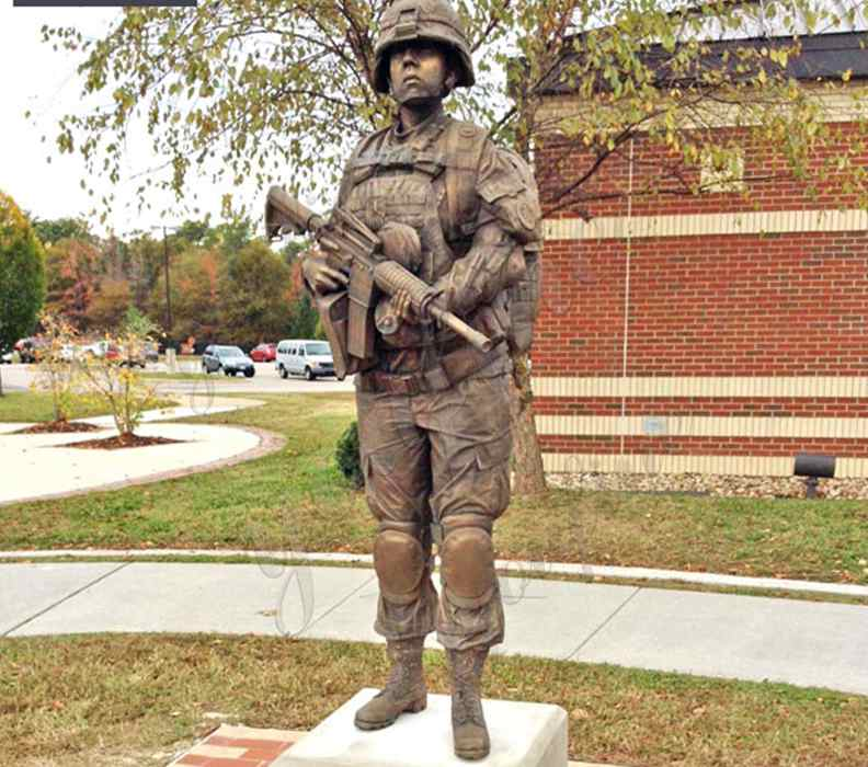Life Size High Quality Custom Made Bronze Military Statue Sculpture for sale