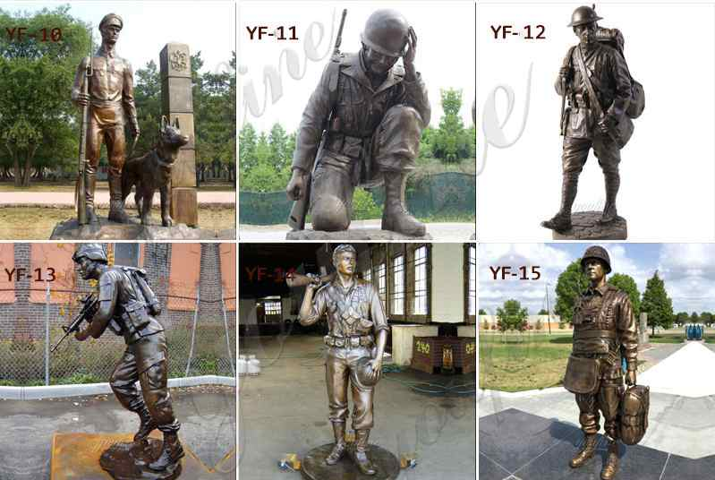 Life Size High Quality Custom Made Bronze Military Statue Sculpture