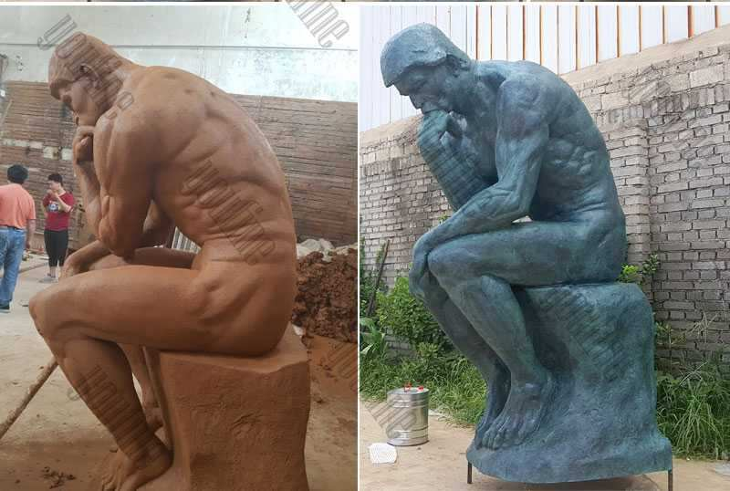 Life Size Famous Bronze Thinker Statue