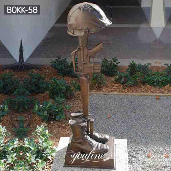 Life Size Famous Bronze battle cross sculpture for memorial BOKK-58