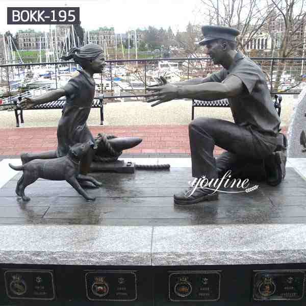 High Similarity Customized Group Bronze Military Monument Sculptures BOKK-195