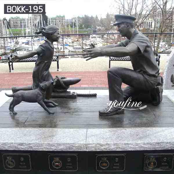High Similarity Customized Group Bronze Military Monument Sculptures BOKK-195