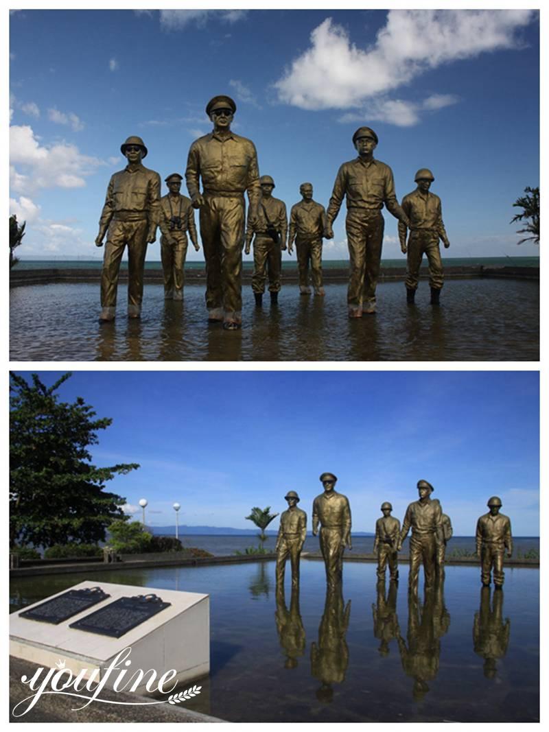Life-size Bronze military statue