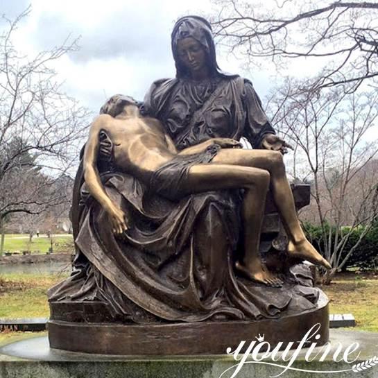 Life-size Bronze Pieta Statue for church decoration for Sale BOKK-612