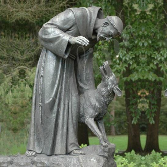 Bronze St Francis Statue Garden Decor for Sale CHS-319