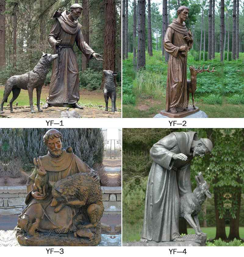 St Francis statue with dog