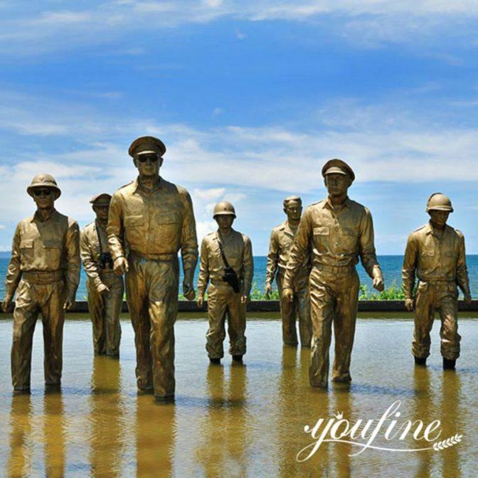 bronze memorial statues