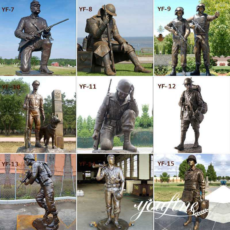 bronze military statues for sale