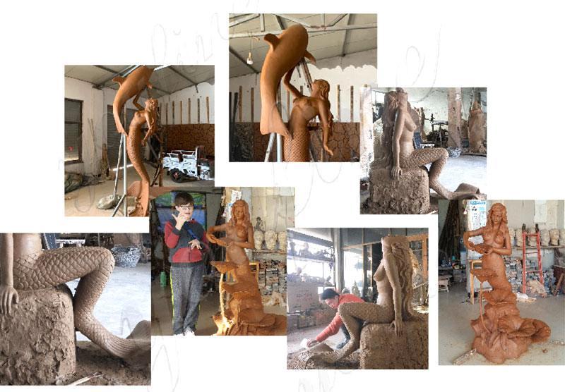 bronze mermaid sculpture
