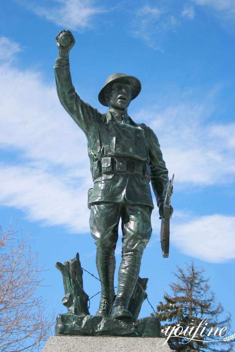 bronze military statues