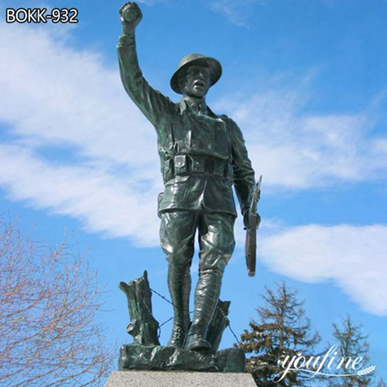 Large Size Bronze Soldier Statue Square Park Decor for Sale BOKK-932